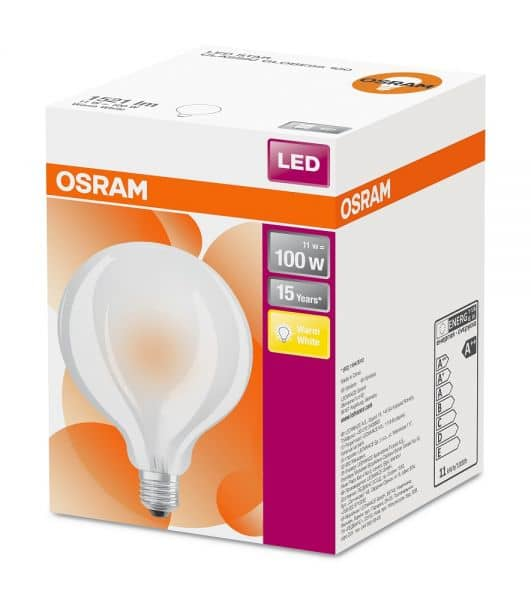 Osram Star E27 LED Globe 11W 1521Lm warmweiss matt