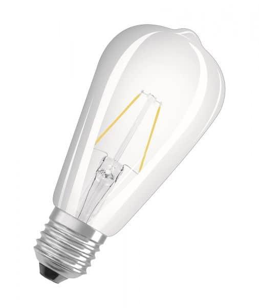 osram 4052899962088 e27 led birne retrofit filament 2w 250lm warmweis. Black Bedroom Furniture Sets. Home Design Ideas