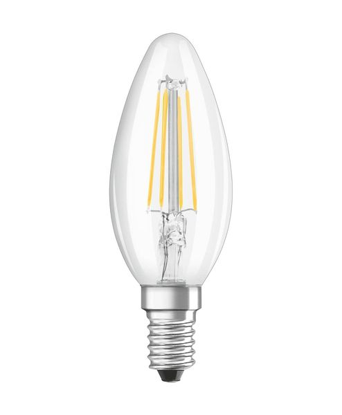 OSRAM SUPERSTAR E14 B Filament LED Kerze 5W dimmbar 470Lm 4000K weiss wie 40W