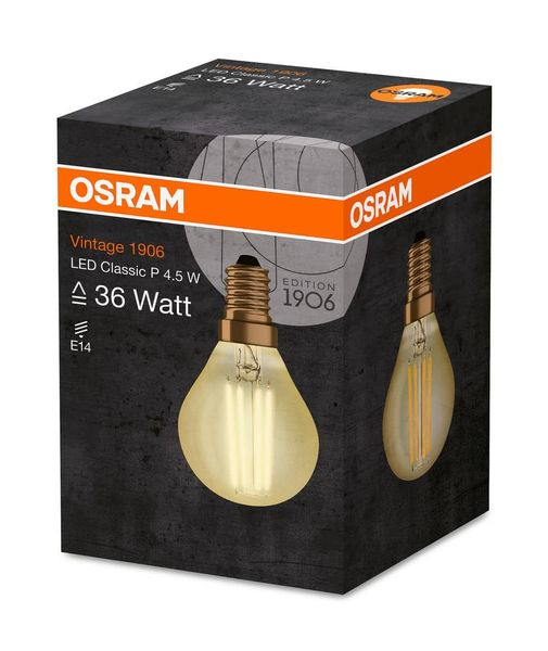 OSRAM Vintage 1906 E14 Filament LED Lampe 4,5W 420Lm 2500K extra-warmweiss