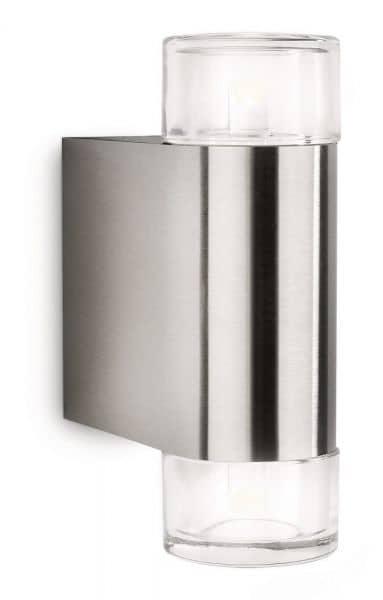 philips led wandaussenleuchte ledino nightwind 2x5w 16380. Black Bedroom Furniture Sets. Home Design Ideas