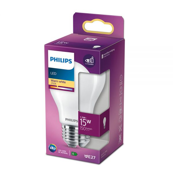 Philips LED Birne Classic 1.5W warmweiss E27 8718699762438