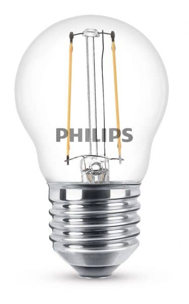 Philips E27 LED Tropfen Filament 2W 250Lm warmweiss 8718699763299