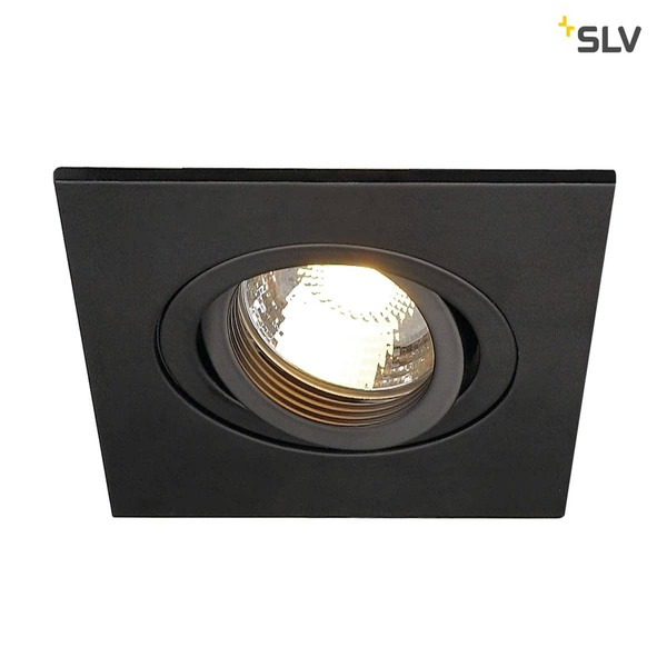 SLV 113450 NEW TRIA XL SQUARE GU10 Downlight mattschwarz max. 50W inkl. Clipfedern