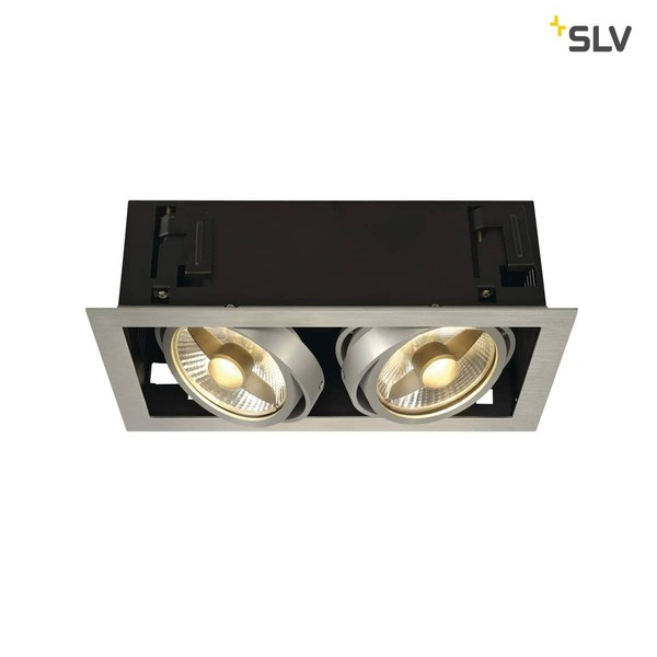 SLV 115556 KADUX 2 ES111 Downlight eckig alu brushed max. 2x75W