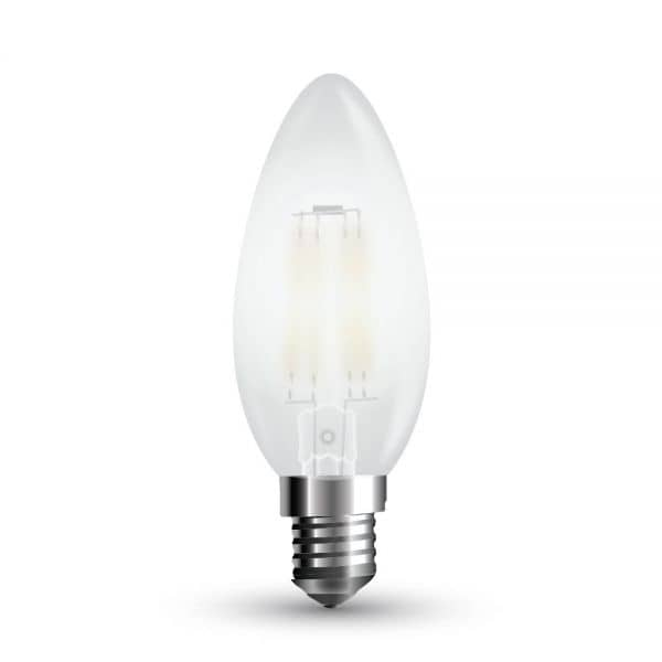 LED Filament Frosted E14 Kerze 4W 350Lm warmweiss matt dimmbar