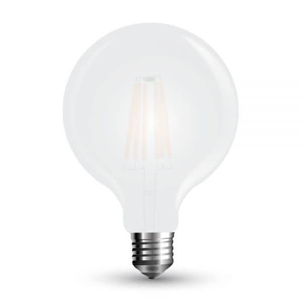 LED Filament Frosted E27 Globe 7W 840Lm weiss matt