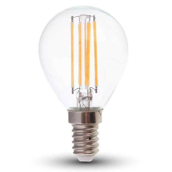 LED Filament E14 Lampe 4W 400Lm warmweiss wie 40W Glühlampe