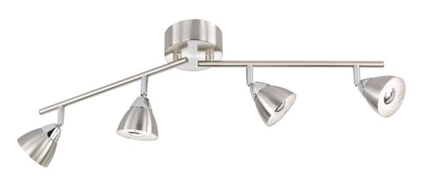 WOFI Spot Fres LED 18W Warmweiss 4-fach Nickel matt