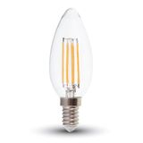 LED Filament E14 Kerze 4W 350Lm warmweiss dimmbar