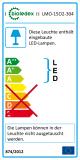 Bioledex WADO LED Ovalleuchte 15W 1400Lm IP65 wasserdicht Decken-Wandleuchte