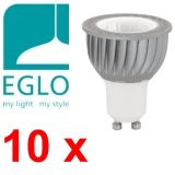 10x Eglo 78482 GU10 LED Strahler 5W 350Lm warmweiss = 50W Halogen