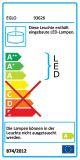 Eglo LED Pendelleuchte Cardito1 32W mit Touchdimmer