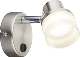 Globo 56550-1 Friso I LED Wandleuchte 4,8W Nickel matt warmweiss