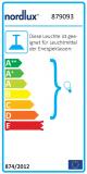 Nordlux LED Wandleuchte mit Hausnummer-Beleuchtung Alu Silber
