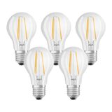 5er-Pack OSRAM BASE E27 A Filament LED Lampe 7W 806Lm 2700K warmweiss wie 60W