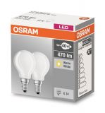 Osram E14 LED Lampe Base Retrofit 4W 470Lm warmweiss Doppelpack