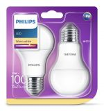 2er-Set Philips LED Birne E27 13W warmweiss wie 100W Glühlampe 1521Lm 8718696586099