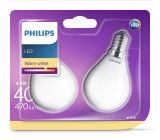 2er-Set Philips LED Birne Classic 4.3W warmweiss E14 8718696751411