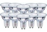 10er-Pack Philips GU10 LED Spot Master dimmbar 5W 345Lm warmweiss wie 50W 8718699739508