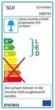 SLV 1000743 BATO 35 CW LED Indoor Wand- und Deckenaufbauleuchte schwarz LED 2700K