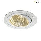SLV 114271 NEW TRIA LED DL ROUND Set mattweiss 25W 30° 3000K inkl. Treiber Clipfed.