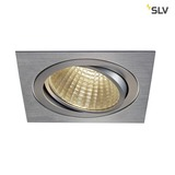 SLV 114296 NEW TRIA LED DL SQUARE Set alu-brushed 25W 30° 3000K inkl. Treiber Clipfed.