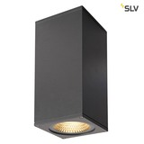 SLV 234505 BIG THEO WALL Outdoor Wandleuchte zweiflammig LED 3000K Flood up down anthrazit B H T 13 27,5 13,5 cm