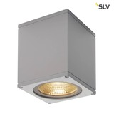 SLV 234524 BIG THEO WALL Outdoor Wandleuchte Flood down LED 3000K silbergrau B H T 13 14 13,5 cm