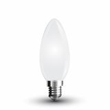 LED Filament Frosted E14 Kerze 4W 350Lm warmweiss matt