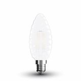 LED Filament Frosted E14 Kerze 4W 400Lm warmweiss geschwungen matt