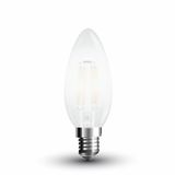 LED Filament Frosted E14 Kerze 4W 400Lm warmweiss matt