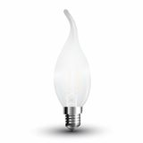 LED Filament Frosted E14 Kerze 4W 400Lm tageslichtweiss Windstoß matt