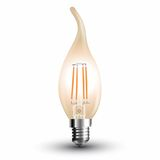 LED Filament E14 Kerze 4W 350Lm extra-warmweiss amber gold Windstoß
