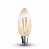 LED Filament E14 Kerze 4W 350Lm Vintage extra-warmweiss amber gold