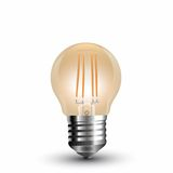 LED Filament E27 Lampe 4W 350Lm G45 extra-warmweiss amber gold