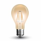 LED Filament E27 Lampe 8W 720Lm extra-warmweiss amber gold