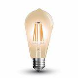 LED Filament E27 Lampe 8W 700Lm extra-warmweiss amber gold